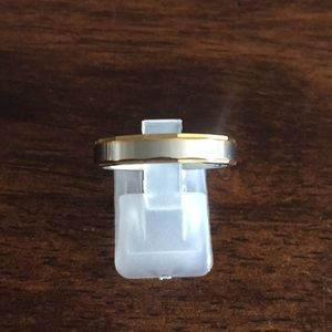 Gold over stainless steal two tone ring size 8